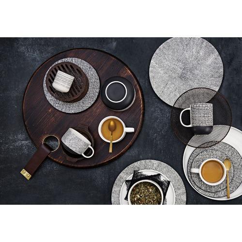 Salt & Pepper Salt & Pepper Black Raww Cups & Saucers