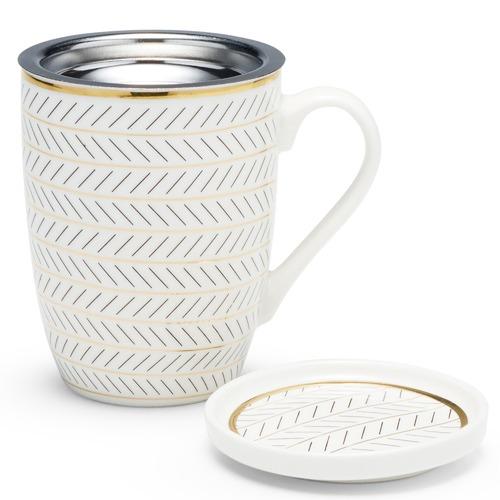 Salt & Pepper 300mL Feather Luxe Mug & Strainer