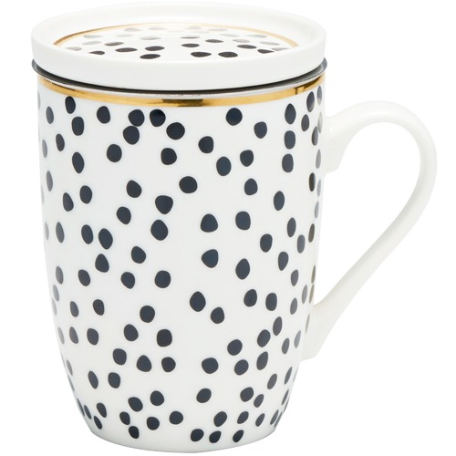 Salt & Pepper 300mL Spot Luxe Mug & Strainer