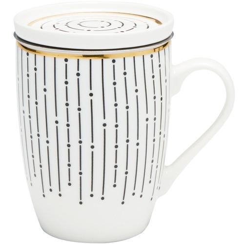 Salt & Pepper 300mL Linear Luxe Mug & Strainer