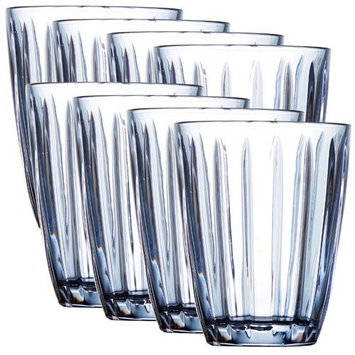 Salt & Pepper 4 Piece Blue Celine Glass Tumblers