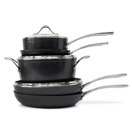 Salt & Pepper 5 Piece Tan-Ium Aluminium Cookware Set