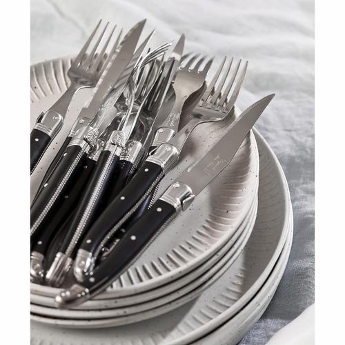 Salt & Pepper 12 Piece White Caro Speckled Dining Set