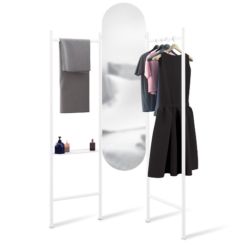 Umbra White Vala Full-Length Floor Mirror