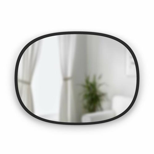 Umbra Black Hub Oval Metal Wall Mirror