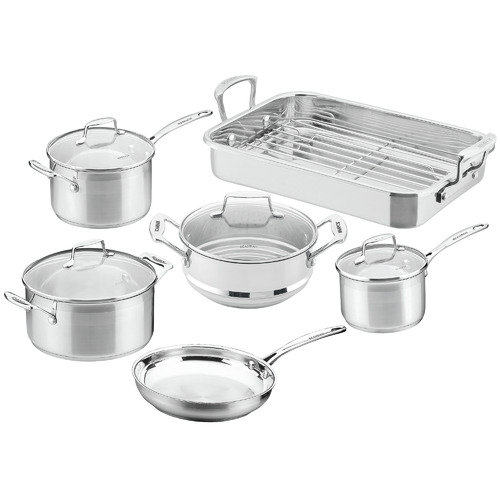 6 Piece Impact Stainless Steel Cookware Set