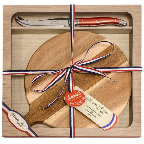 Laguiole Jean Neron 2 Piece Laguiole Jean Neron Round Cheese Board & Knife Set