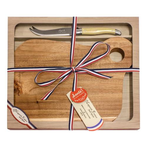 Laguiole Jean Neron 2 Piece Laguiole Jean Neron Square Cheese Board & Knife Set