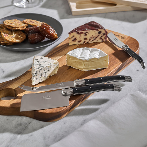Laguiole Jean Neron 2 Piece Laguiole Jean Neron Rectangular Cheese Board & Knife Set