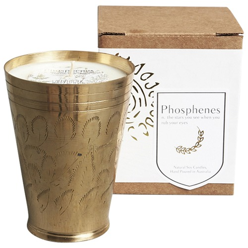 Inartisan Hand Poured Soy Candle in Brass Lassi Cup