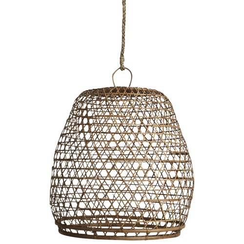 Natural bamboo lamp shade with handle temple webster inartisan natural bamboo lamp shade with handle aloadofball Images