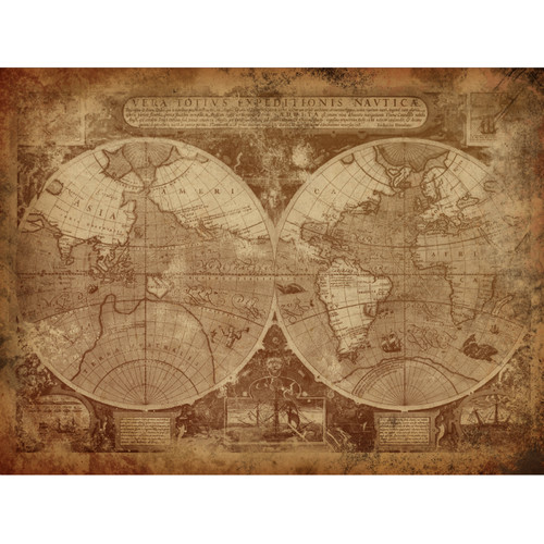 Latin World Map Canvas Wall Art Temple Webster