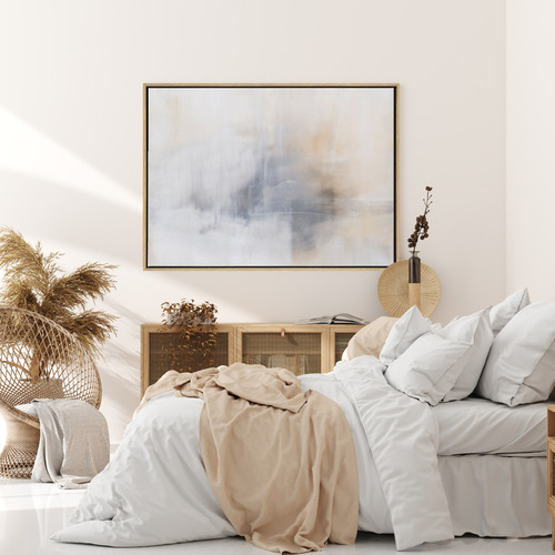 Calm Mornings Drop Shadow Framed Canvas Wall Art