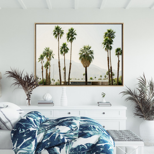 Desert Love Drop Shadow Framed Canvas Wall Art