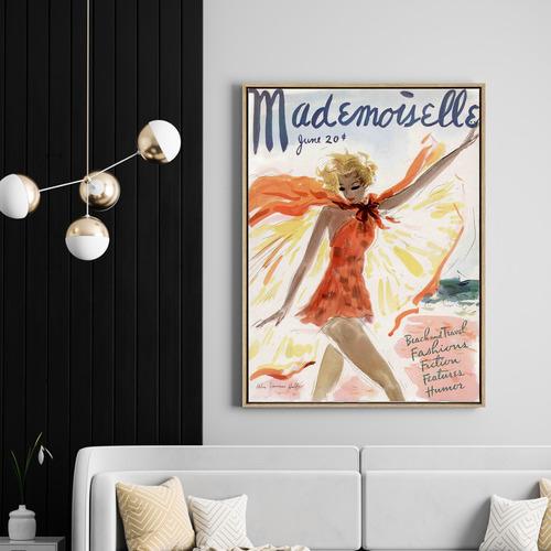 Mademoiselle Drop Shadow Framed Canvas Wall Art
