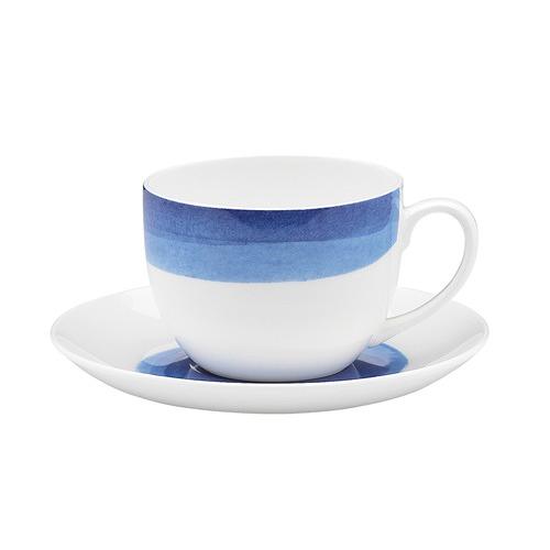 Ecology Ecology Watercolour Ocean Teacup & Saucer