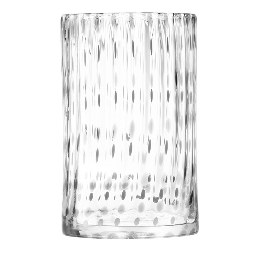 LSA Grey & Clear Twill Glass Vase