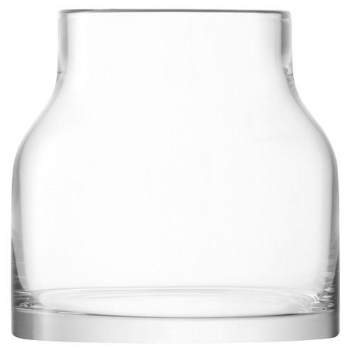 LSA Loft Clear Glass Vase