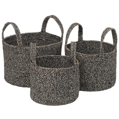 Ecology 3 Piece Midnight Stitch Nesting Basket Set