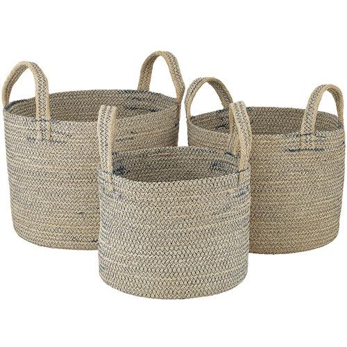 Ecology 3 Piece Icicle Stitch Nesting Basket Set