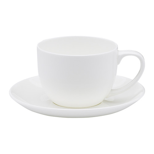 Ecology 2 Piece White Canvas Teacup & Saucer Set