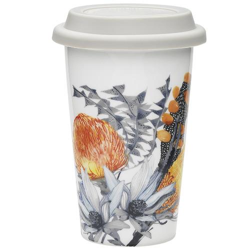 Ecology Florae 350ml Bone China Travel Mug