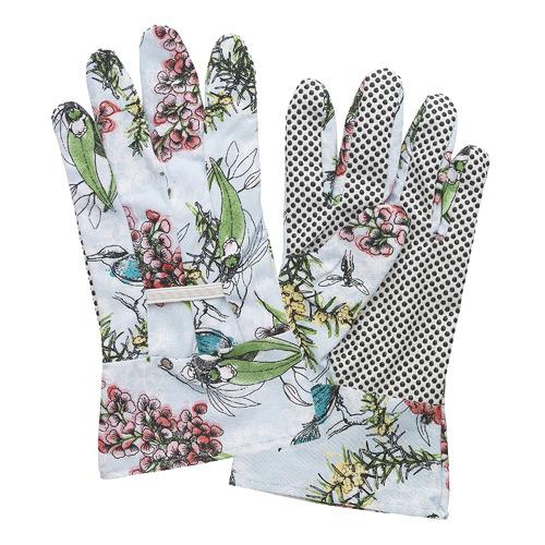 Blue Blossom Linen Gardening Gloves