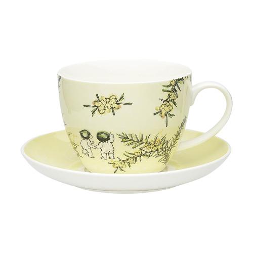 Ecology 2 Piece Yellow Wattle Fine China Cup & Saucer Set