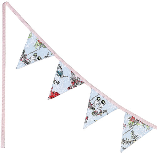 Ecology 275cm Blue Blossom Cotton Bunting