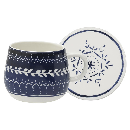 Ecology 2 Piece Indigo Retreat Mug & Coaster Set