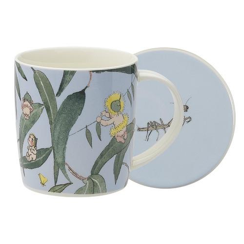 Ecology 2 Piece Light Blue Gumnut Babies Mug & Coaster Set