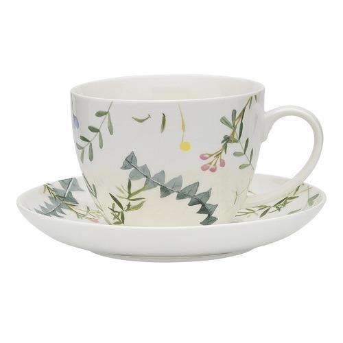 Ecology 2 Piece Greenhouse Fine China Cup & Saucer Set