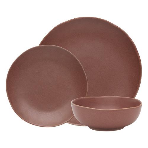 12 Piece Cinnamon Sahara Stoneware Dinner Set