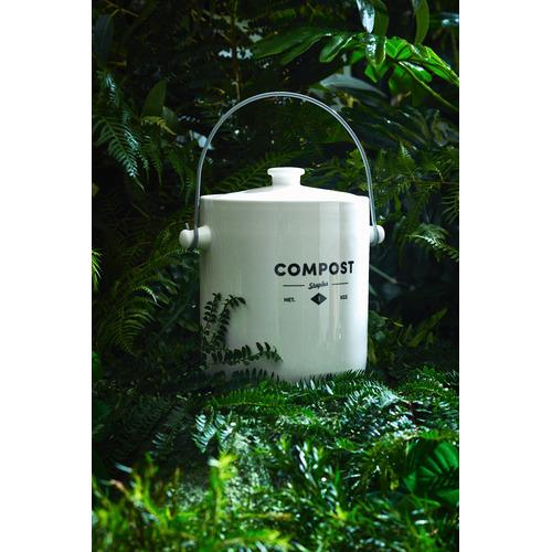 Ecology Staples Foundry Porcelain Compost Bin