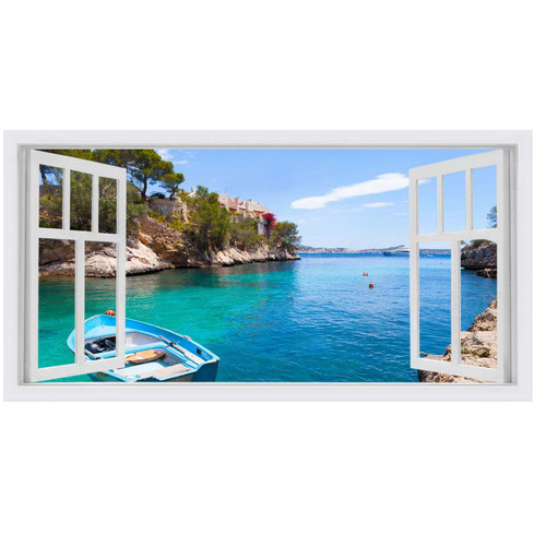 OasisEditionsAustralia Majorca Window Stretched Canvas