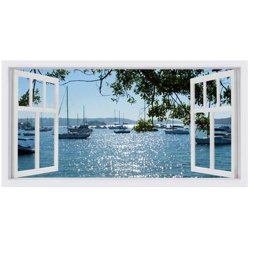 OasisEditionsAustralia Rose Bay Window Stretched Canvas