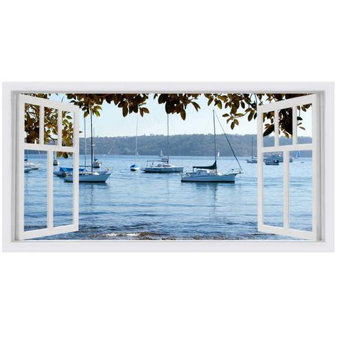 OasisEditionsAustralia Watsons Bay II Window Stretched Canvas