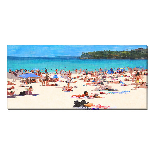 OasisEditionsAustralia Bondi South Stretched Canvas Print