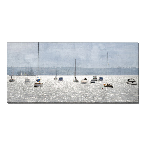 OasisEditionsAustralia West Rose Bay Stretched Canvas Print