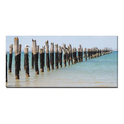 OasisEditionsAustralia Past Pier Stretched Canvas