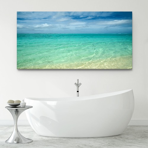 Bright Aquas Canvas Wall Art