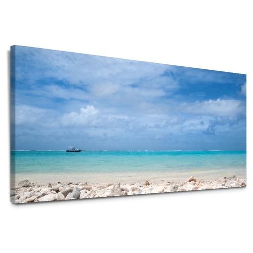 Coral Shore Canvas Wall Art