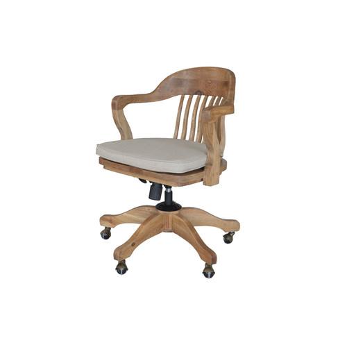 S & G Furniture 1940s Banker's Chair Natural Oak