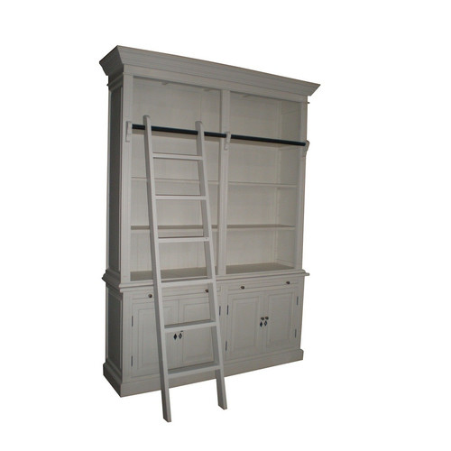 S & G Furniture Paris Bookcase White