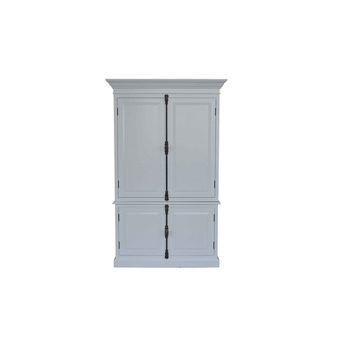 S & G Furniture French Panel Cabinet White