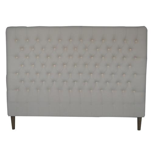 S & G Furniture Cream Sawyer Cotton King Bed Head