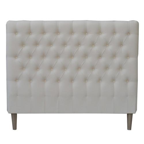 S & G Furniture Cream Sawyer Cotton Double Bedhead
