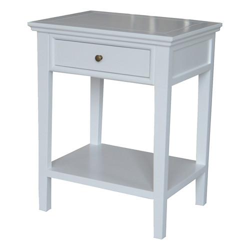 S & G Furniture White Ashiya Side Table