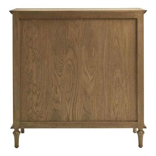 S & G Furniture 4 Drawer Weathered Oak Eddie Dresser