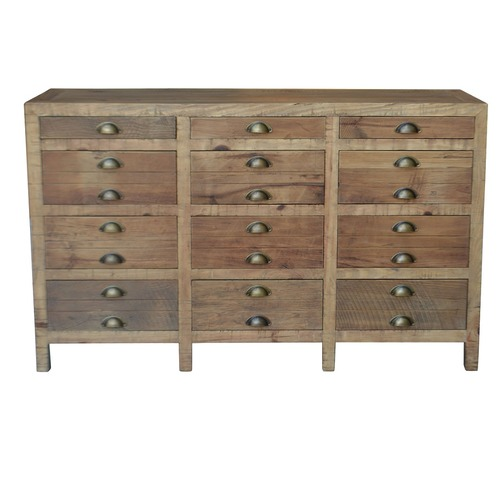 Printmakers Recycled Pine Wood Buffet Temple Amp Webster